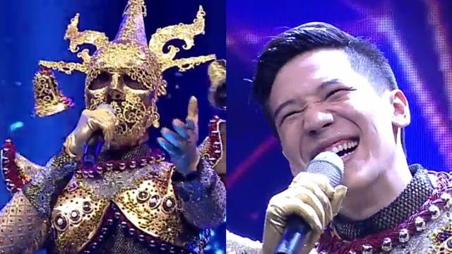 หน้ากากนักร้องซีซัน 1-กรุ๊ปA-06-หน้ากากระฆัง อาร์ม กรกันต์