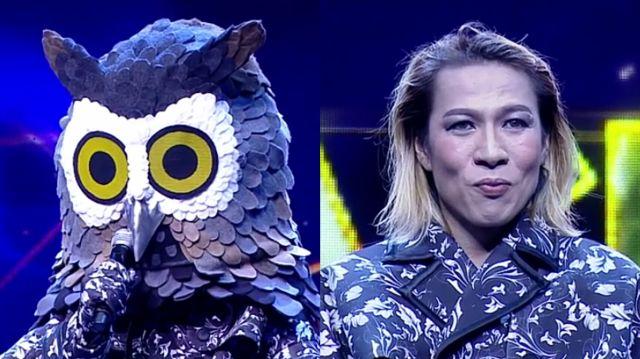 หน้ากากนักร้องซีซัน 1-กรุ๊ปb-03-หน้ากากนกฮูก จีน กษิดิศ