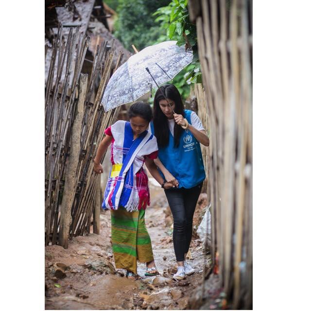 ปู ไปรยา ลุนด์เบิร์ก ในฐานะฑูตสันถวไมตรี UNHCR