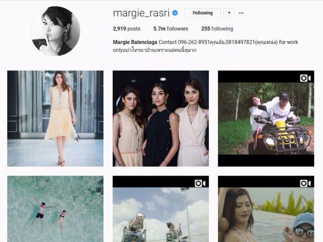 9-margie_rasri มาร์กี้ ราศรี มีผู้ติดตามไอจีมากที่สุดเป็นอันดับที่เก้าของเมืองไทย