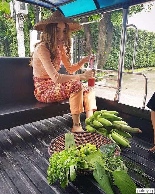ปาล์มมี่ เอาผักออแกนิกที่ปลูกเองที่บ้านมาฝาก เอกกี้