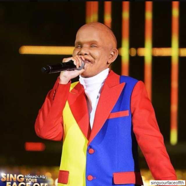 ซานิ af 6 ในรายการ Sing Your Face Off ซีซั่น 3 เป็นเอ็ดดี้ ผีน่ารัก 1