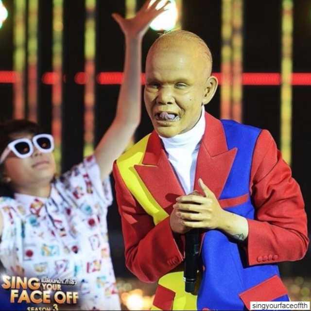 ซานิ af 6 ในรายการ Sing Your Face Off ซีซั่น 3 เป็นเอ็ดดี้ ผีน่ารัก 4