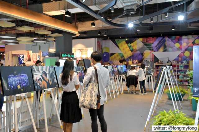 บรรยากาศในงาน walk on air palits photo exhibition