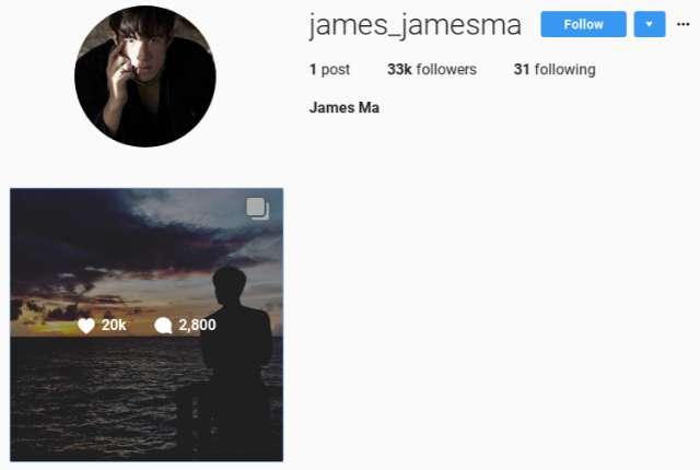 เจมส์ มาร์ เปิดไอจีแล้ว james_jamesma