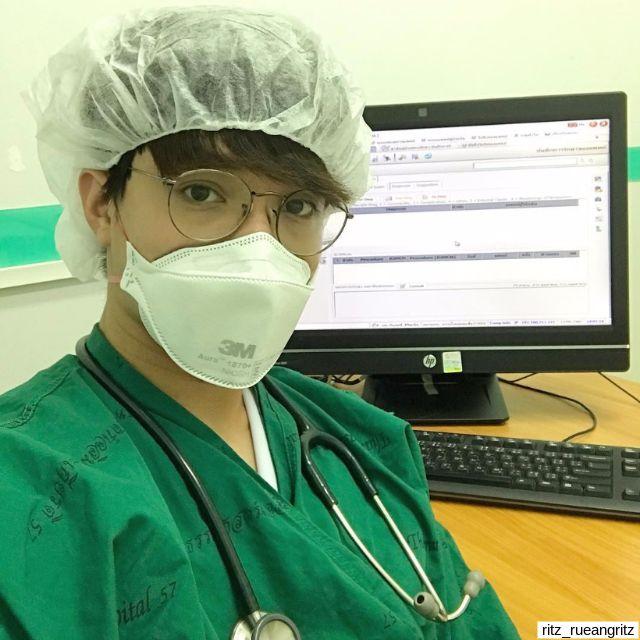 คุณหมอ ริท เดอะสตาร์ ที่โรงพยาบาลธรรมศาสตร์เฉลิมพระเกียรติ