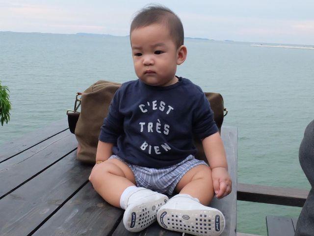 น้องเรซซิ่งไปเที่ยวทะเลครั้งแรกในชีวิต