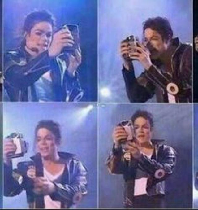 ไมเคิล แจ็คสัน เซลฟี่บนเวทีคอนเสิร์ต เมื่อปี 1993