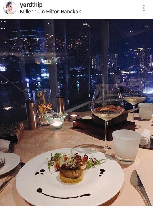 หยาดทิพย์ ราชปาล ที่โรงแรม Millennium Hilton Bangkok