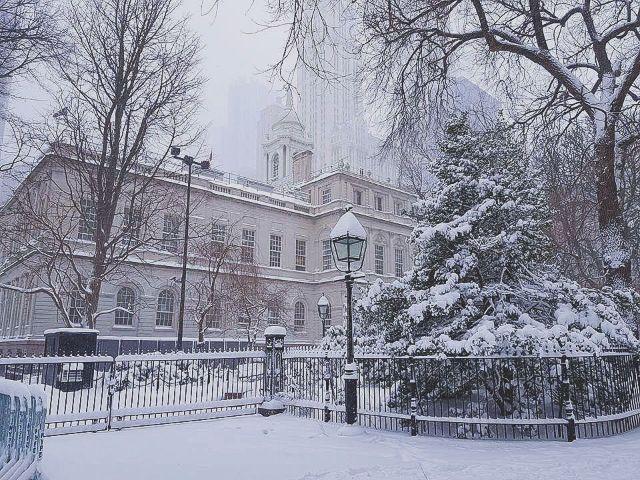 หิมะ ใน นิวยอร์ก