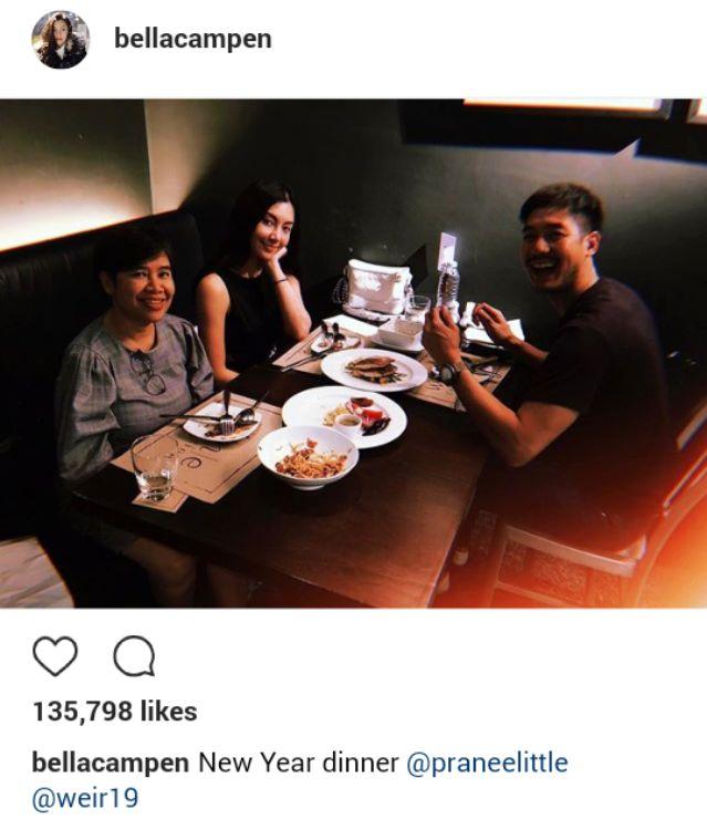 เบลล่า ราณี โชว์ภาพ เวียร์ พาทานข้าวกับคุณแม่