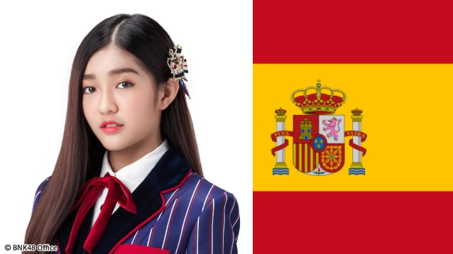 เจนนิส BNK48 เชียร์ทีมชาติ สเปน ฟุตบอลโลก 2018
