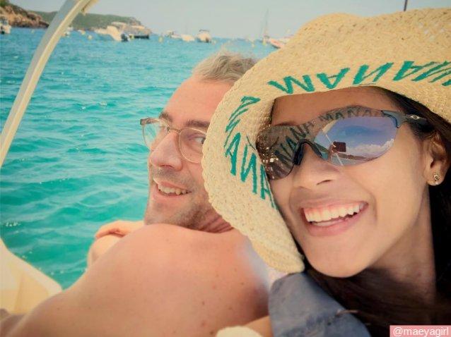 เมญ่า นนธวรรณ กับสามี ฟิลลิป บรามาส ที่ เมนอร์ก้า สเปน