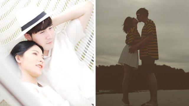 ต้นหอม-ซัน โชว์สวีต เขย่งขาจูบริมชายหาด ทำร้ายคนโสดอย่างแรง