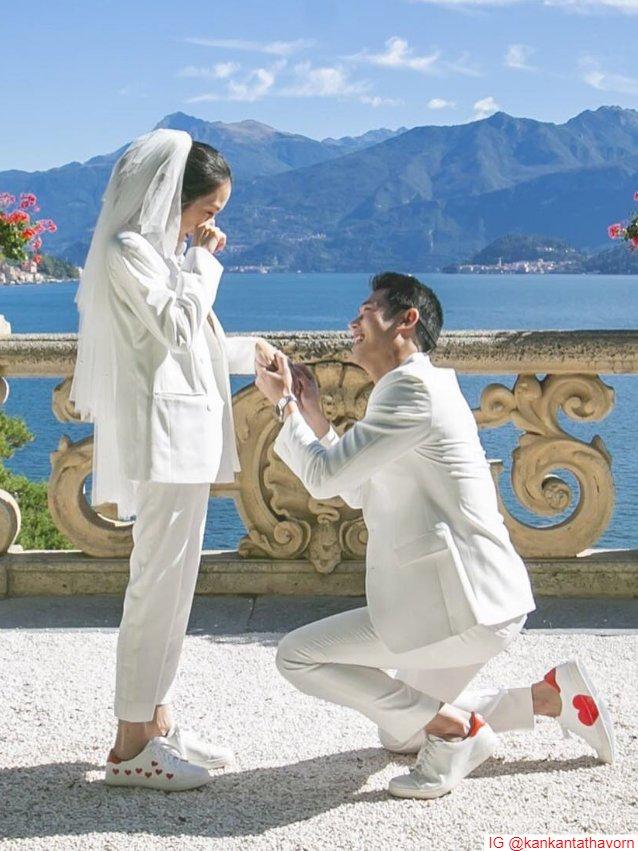 กันต์ กันตถาวร คุกเข่าขอ พลอย อัยดา แต่งงานที่ อิตาลี โรแมนติกสุด ๆ