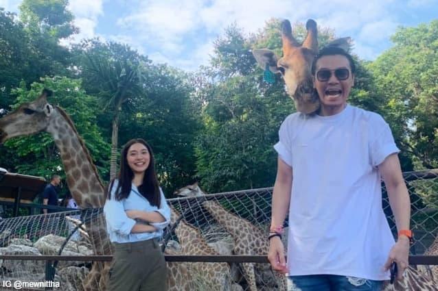 มิว นิษฐา กับ ไฮโซเซนต์ ธราภุช ที่ Bonanza Exotic Zoo สวนสัตวโบนันซ่า เขาใหญ่