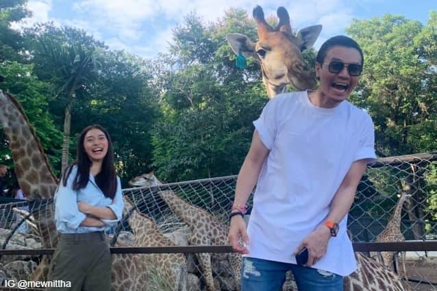 มิว นิษฐา กับ ไฮโซเซนต์ ธราภุช ที่ Bonanza Exotic Zoo