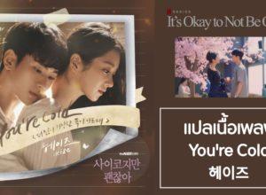 แปลเนื้อเพลง You're Cold ซีรีส์ It's Okay to Not Be Okay OST. (헤이즈)