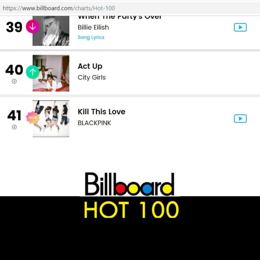 Kill This Love ติดชาร์จ Billboard อันดับที่ 41