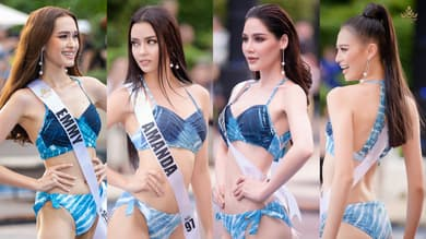 รูปชุดว่ายน้ำ มิสยูนิเวิร์สไทยแลนด์ 2020 ปังริมหาดหัวหิน