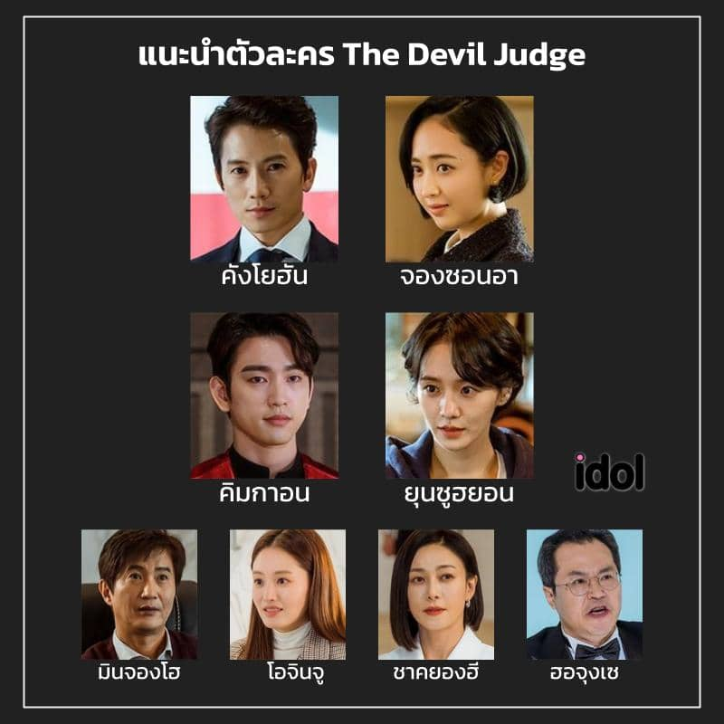 รายชื่อตัวละครซีรีส์ The Devil Judge